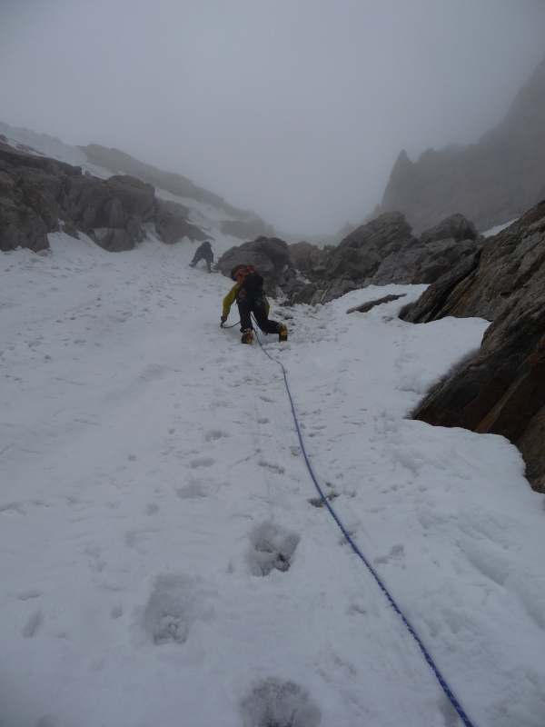 Starting up the gulley route on Lama Jimsa Kangri (6276m)., 217 kb