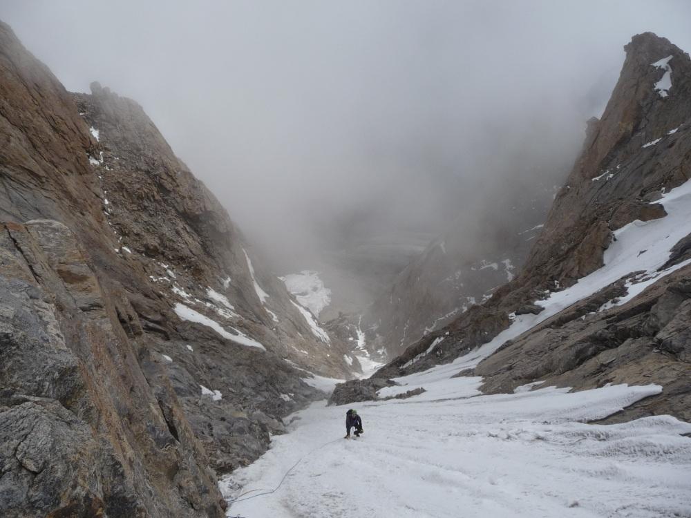 Looking down the gulley on Lama Jimsa Kangri., 220 kb