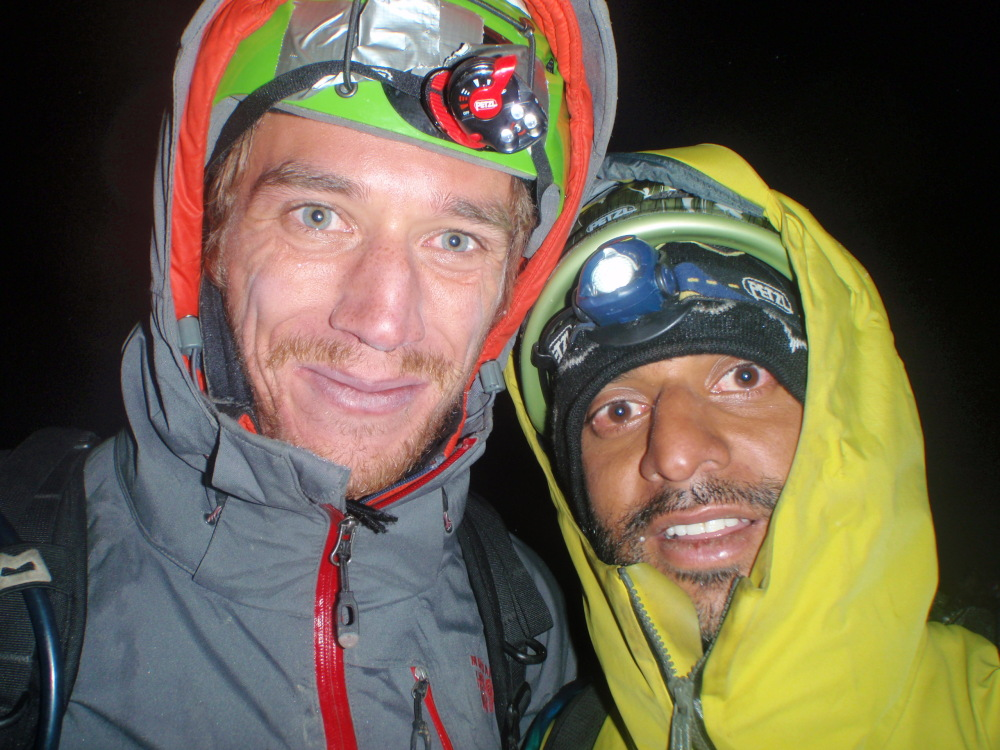 Jonny and Kunal, back on the glacier after finishing their route; Bhaio aur bheno ki khushi., 226 kb