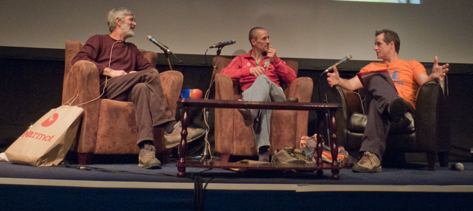 The Marmot Night at Kendal 2010 - Rab Carrington, Steve MacClure and John Horscroft on stage, 79 kb