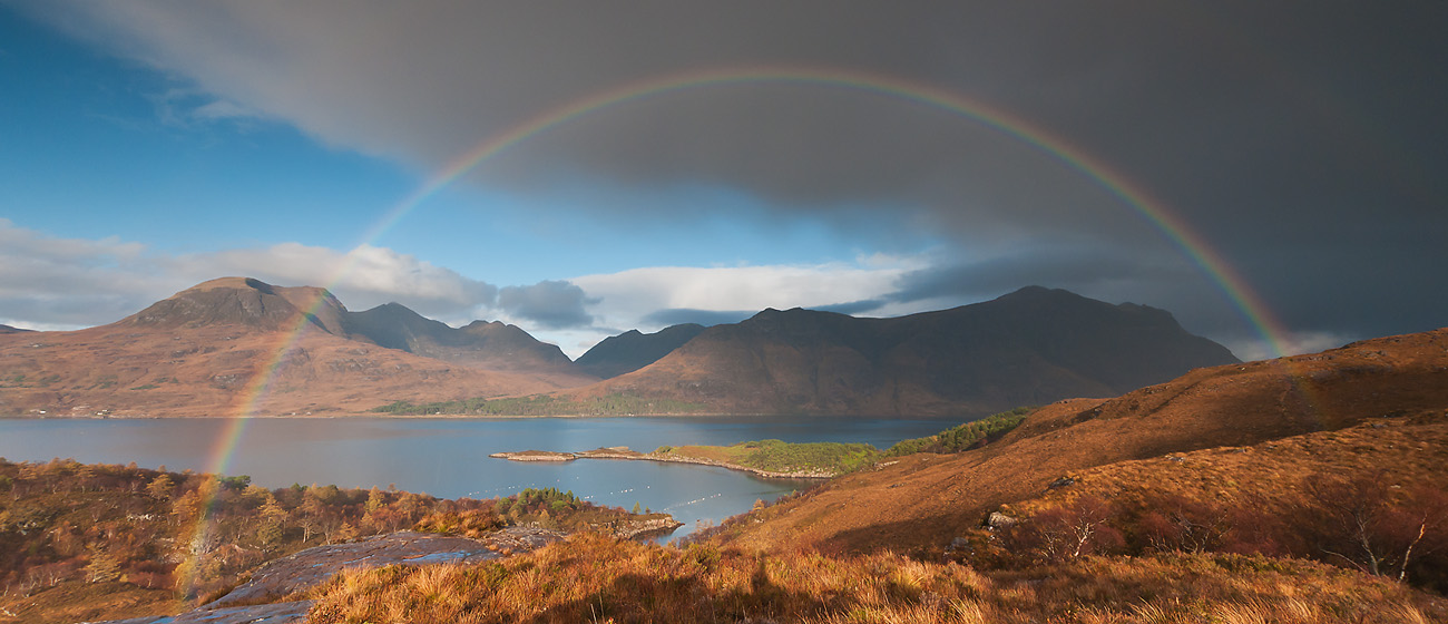 Beinn Alligin and Liathach from across Upper Loch Torridon, 222 kb
