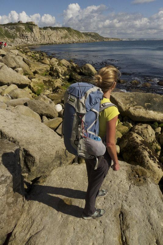 Sarah Stirling testing the Fastpack 40 Rucksack in Portland, 117 kb