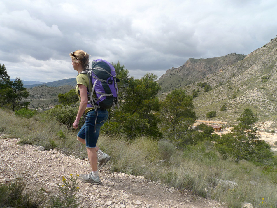 Sarah Stirling off to the crag with a Marmot Myrina Rucksack in Costa Blanca, 193 kb