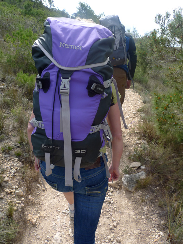 Sarah Stirling testing the Marmot Myrina Rucksack in Costa Blanca, 214 kb