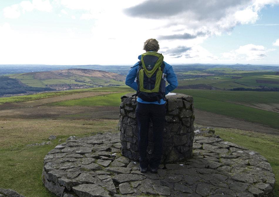 Sarah Stirling testing the Deuter ATC Trail Rucksack in Pembrokeshire, 142 kb