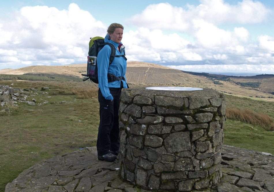 Sarah Stirling testing the Deuter ATC Trail Rucksack in Pembrokeshire, 164 kb