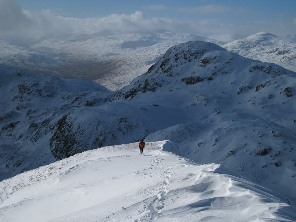 Hit the jackpot with weather and conditions on the Tarmachan Ridge, 118 kb