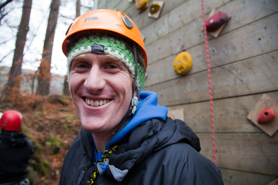 Matt Stygal - always a smile at Plas y Brenin, 171 kb