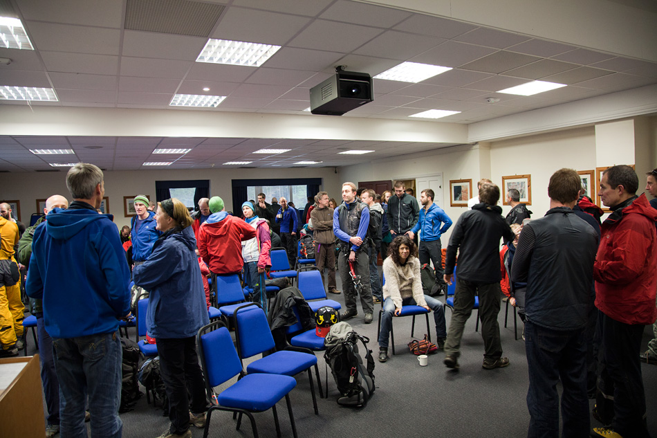 A busy Plas y Brenin - the centre was buzzing with excitement all weekend, 236 kb