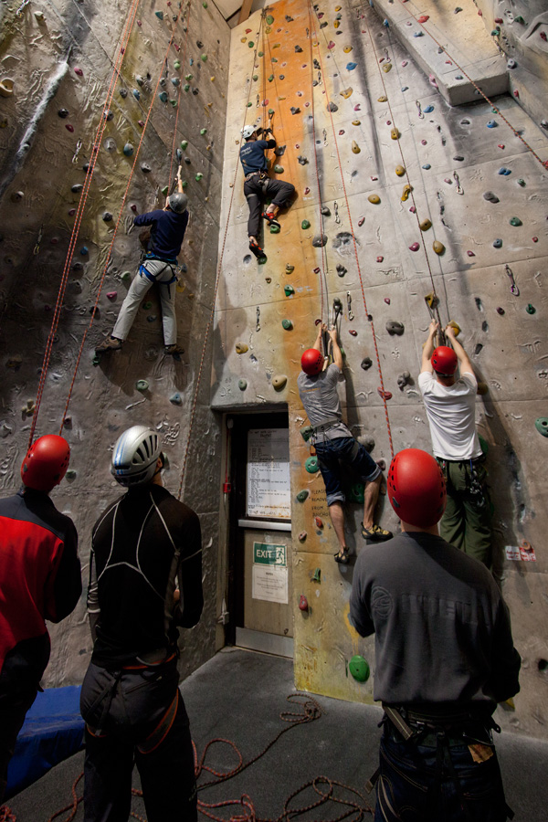The indoor wall at Pyb was a good training facility for indoor drytooling., 237 kb