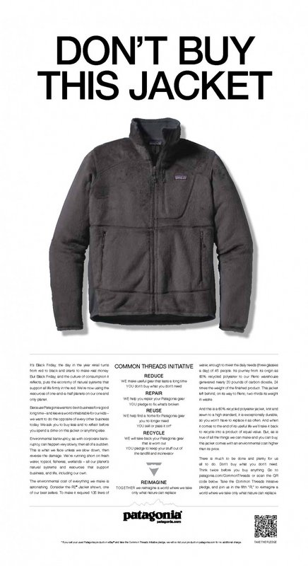 'Don't buy this jacket' advert, 54 kb