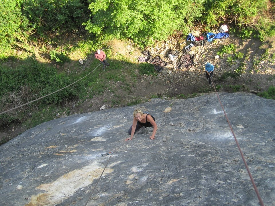 Helen Ashman on Dyserth Castle Slab, 227 kb
