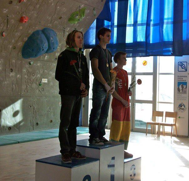 Ed Hamer on the podium at the EYC 2011, 58 kb