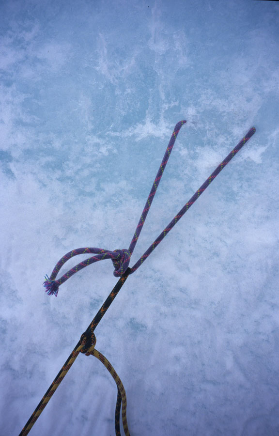 Abalakov Thread. The standard abseil anchor for descending from climbs., 86 kb