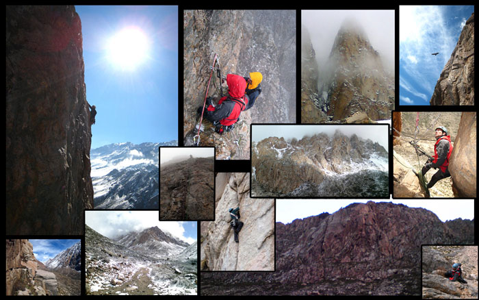 Kevin Thaw climbing in the Arenales Region, Central Argentina, 112 kb