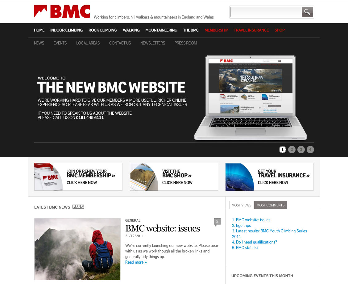 New BMC Website, 140 kb