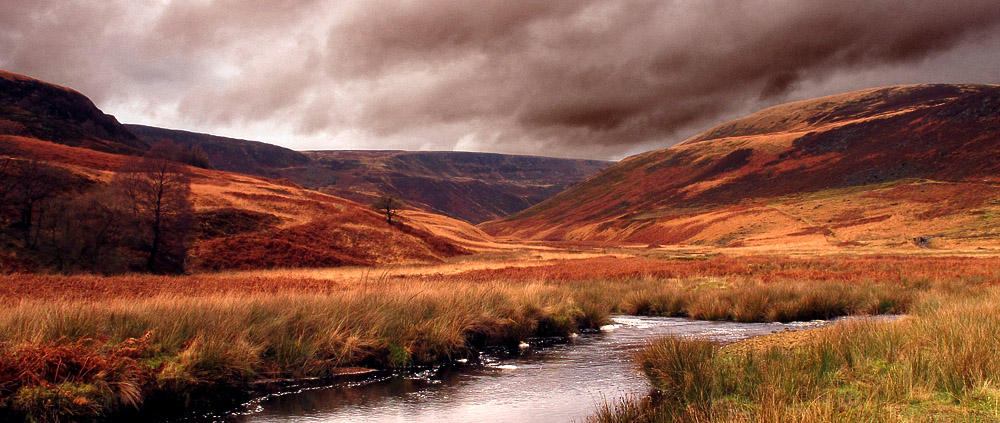 Looking to Laddow from Crowden Great Brook, 181 kb