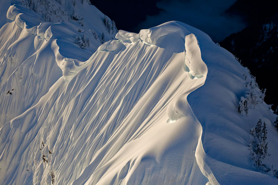 Cornices On The Southeast Ridge Of Cloudcap Peak, 140 kb