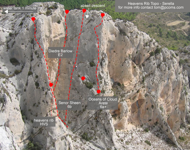 Explore mountain crags - free topos available, 143 kb