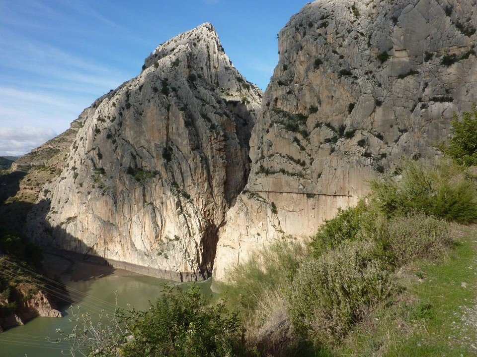 The gorge seen from the El Chorro side. , 194 kb