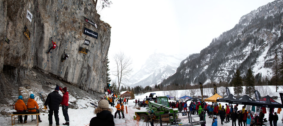 The top-rope drytooling competition at Kandersteg - 2012, 200 kb