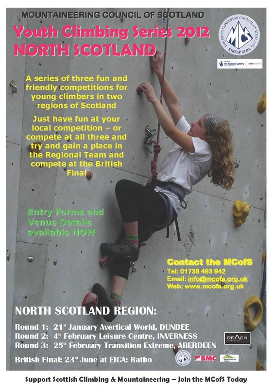 Youth Climbing Series 2012 Poster, 100 kb