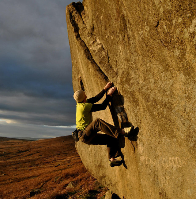 Adam Hughes: Not to be Taken Away, V4. Stanage Plantation, Derbyshire, 140 kb