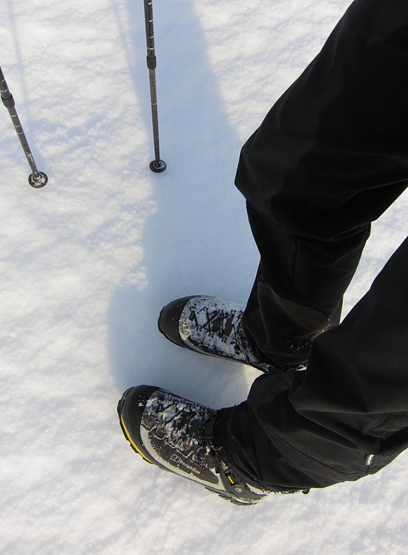 Good chunky tread for a secure footing on hard snow, 71 kb