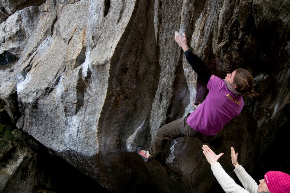 Sarah Seeger on Frank's wild years, 8A+, Cresciano, Switzerland, 133 kb