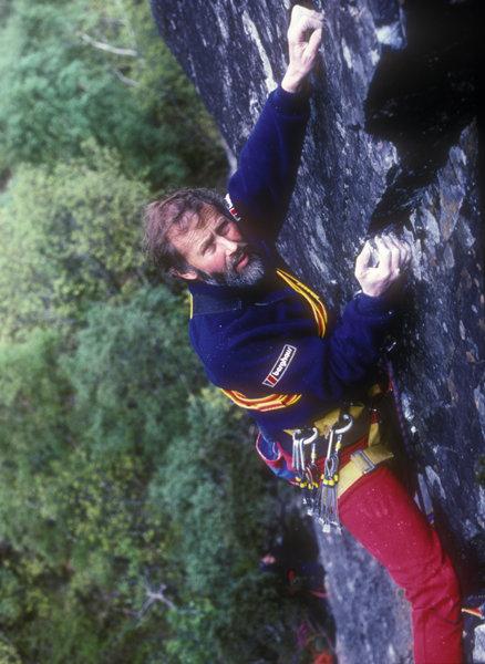 Chris Bonington on Prana, Black Crag, Borrowdale, 90 kb