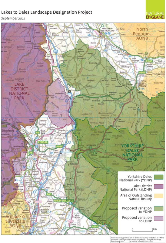 Lakes to Dales map, 141 kb