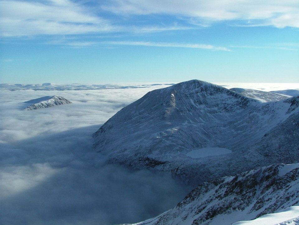 Cairn Toul and a cloud-filled Lairig Ghru  © UKC Articles