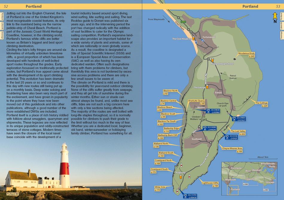 Dorset Rockfax example page 1, 180 kb
