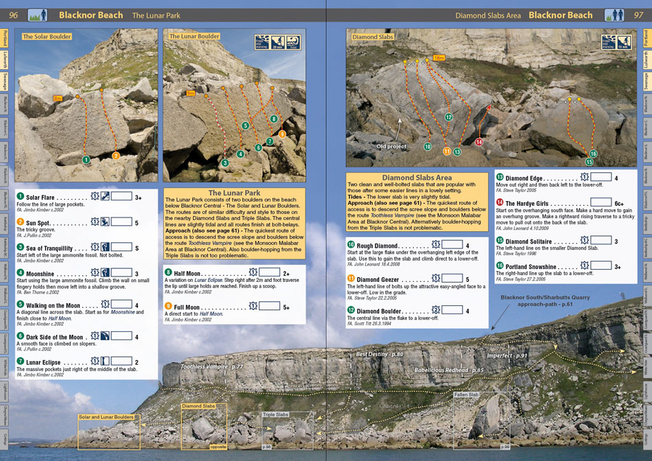 Dorset Rockfax example page 1, 241 kb