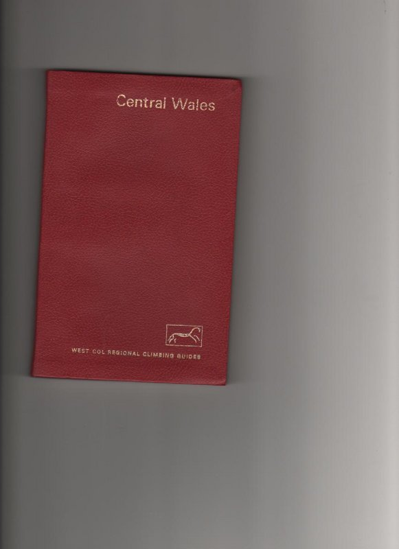 Central wales Climbers Guide, 35 kb