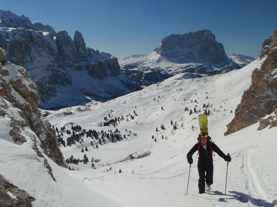 Benn Berkeley touring on the Cir Range, Val Gardena, 146 kb