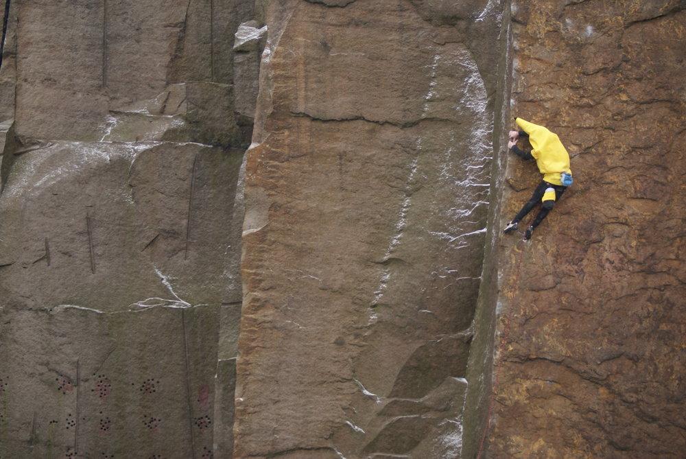 Dylan Fletcher climbing