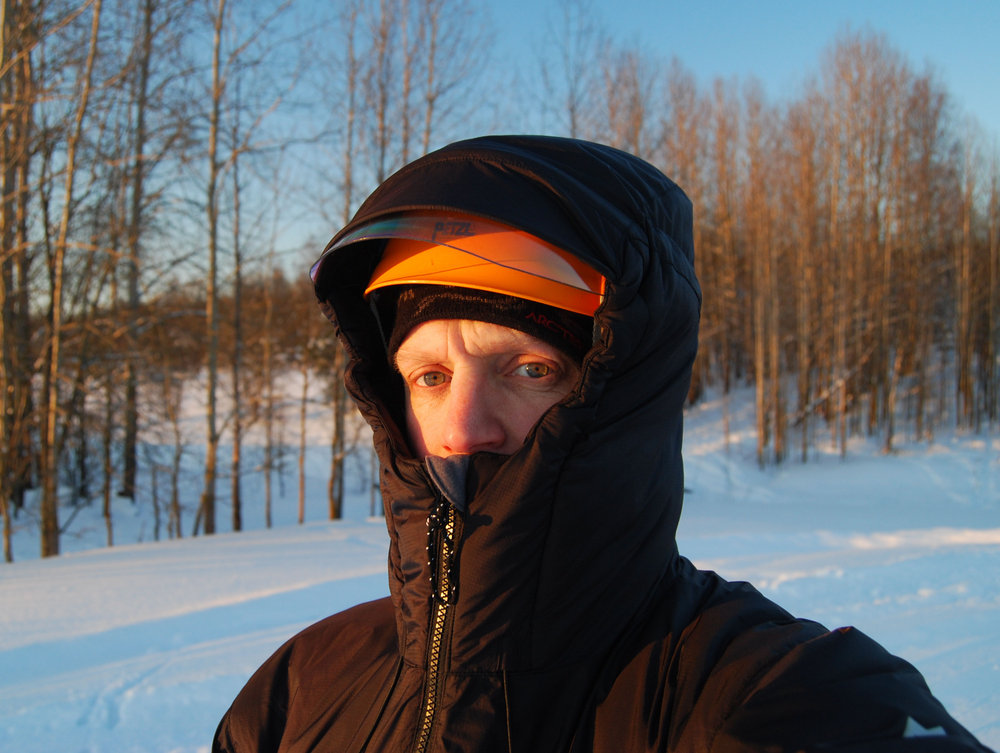 The excellent hood, full protection even over my helmet with a bulky visor attached., 152 kb