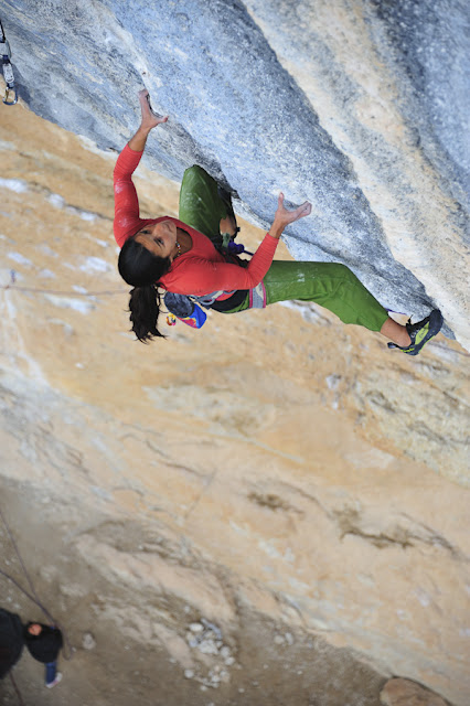 Daila Ojeda on Mind control, 8c+, Oliana, 79 kb