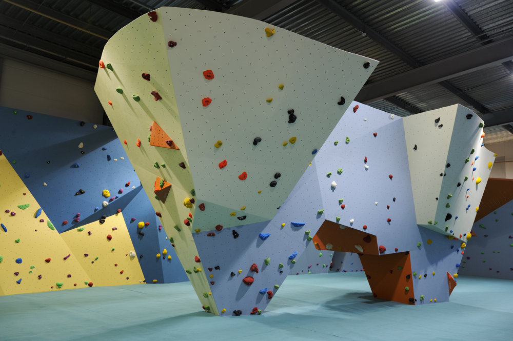 3D plywood climbing wall manufactured by Beacon, 133 kb
