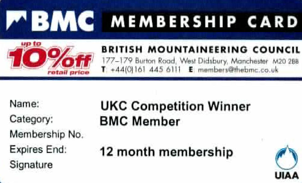 BMC Membership card, 117 kb