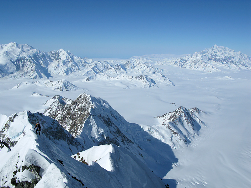 Day 3 on Mount Vancouver, Wrangell-St Elias Ranges with Paul Schweizer. , 169 kb
