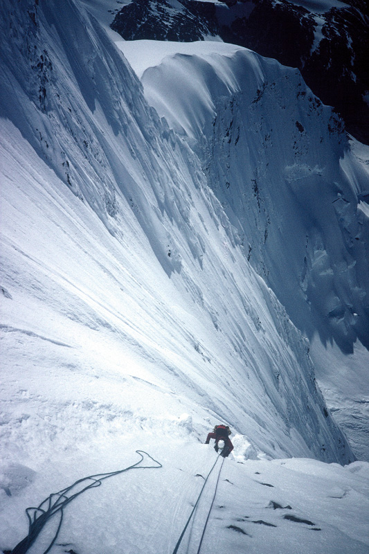 Day 2 on the first ascent of Monte Ada, with Andy Parkin, in the Cordillera Darwin, South America., 179 kb