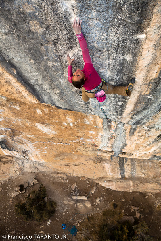 Caroline Ciavaldini on Mind control, 8c+, Oliana, Spain, 172 kb
