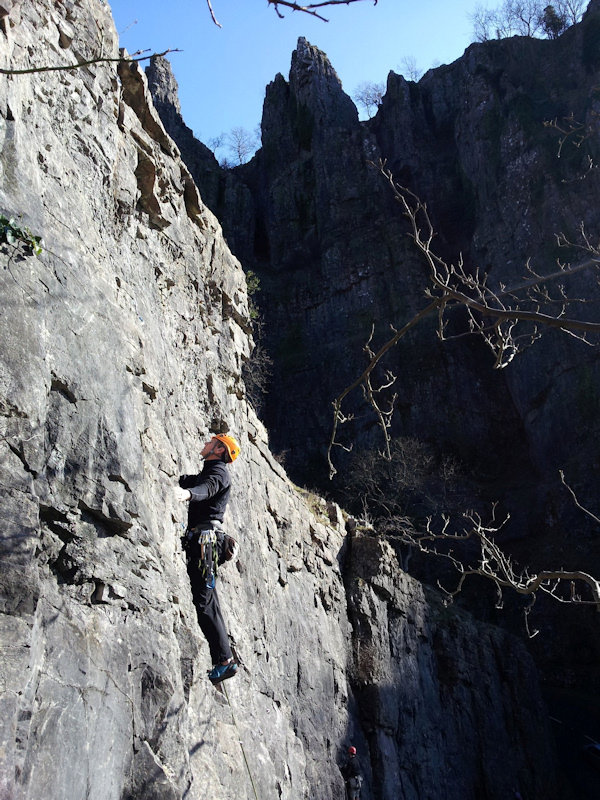 David Minshall at Arch Rock, Cheddar Gorge, 155 kb
