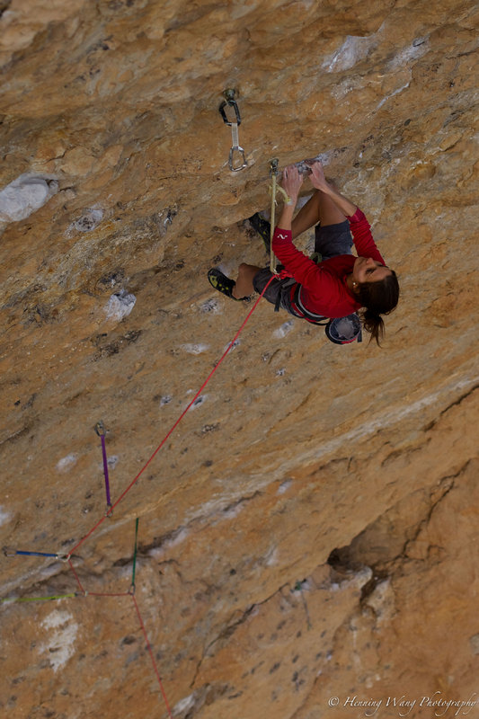 Maria Davies Sandbu on Fish eye, 8c, Oliana, Spain, 134 kb