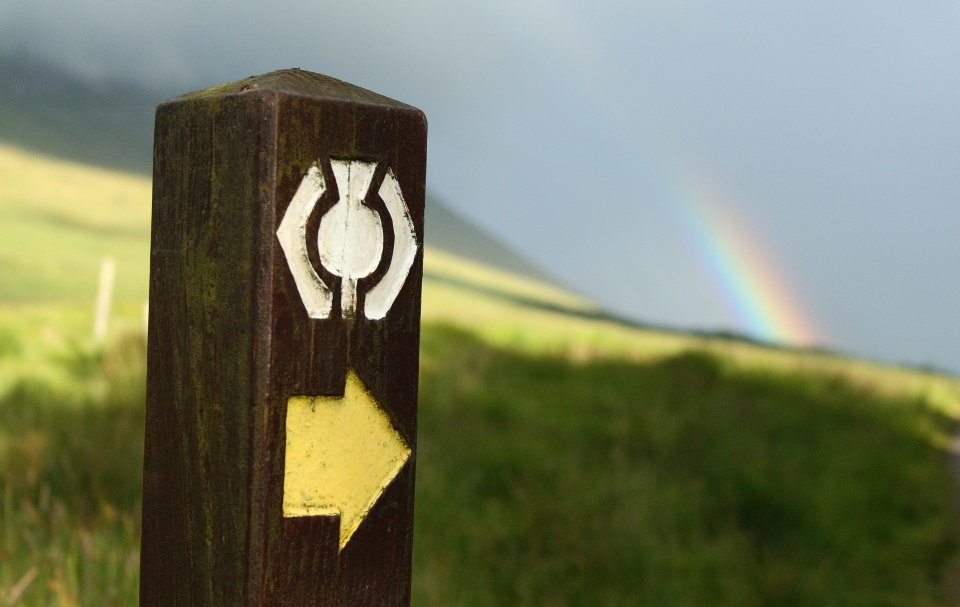 There's regular waymarking on the West Highland Way, 72 kb