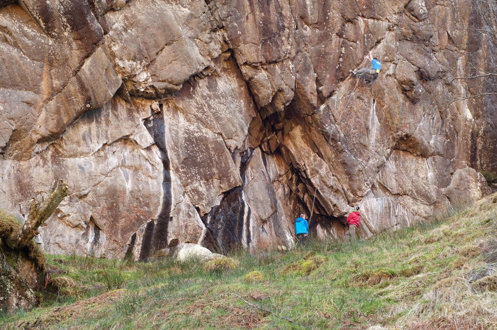 Dave working his new route, 260 kb