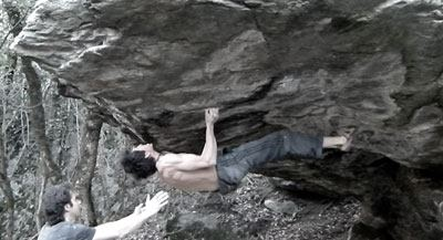 Romain Desgranges on La rose d'eliott, 8B, Branson, Switzerland, 21 kb