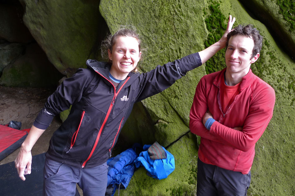 Sophie Evitt and James McHaffie at Brimham Rocks, Yorkshire., 162 kb